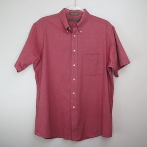 Claybrooke Salmon Short Sleeve Button Down